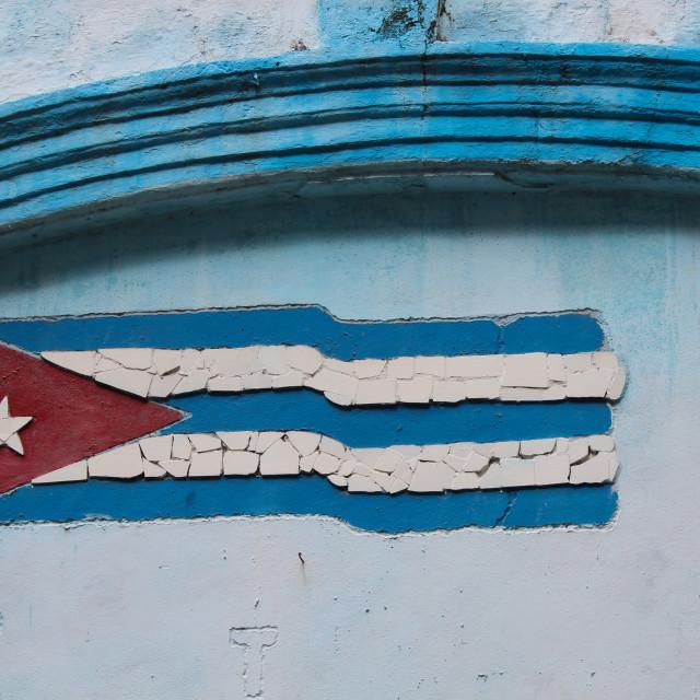 """Cuban flag"" stock image"