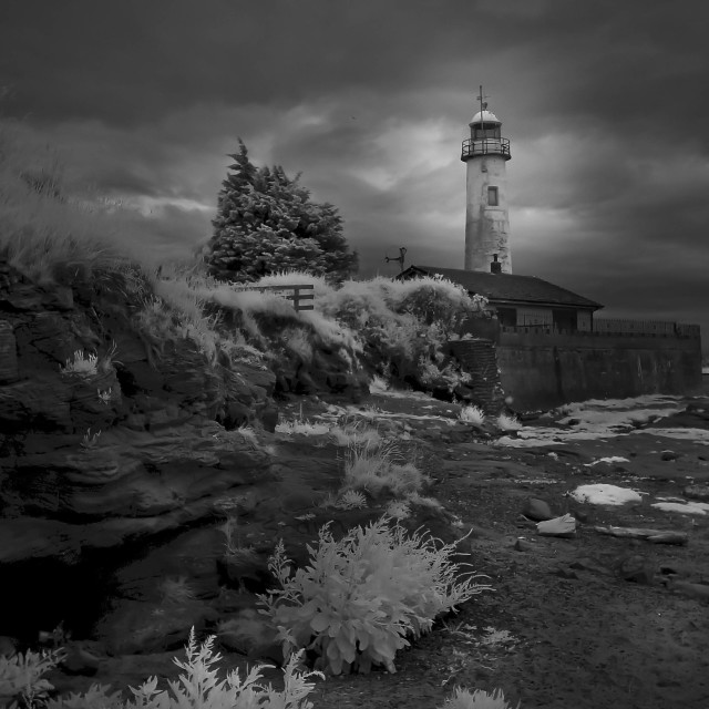 """Hale Lighthouse, Liverpool...infrared"" stock image"