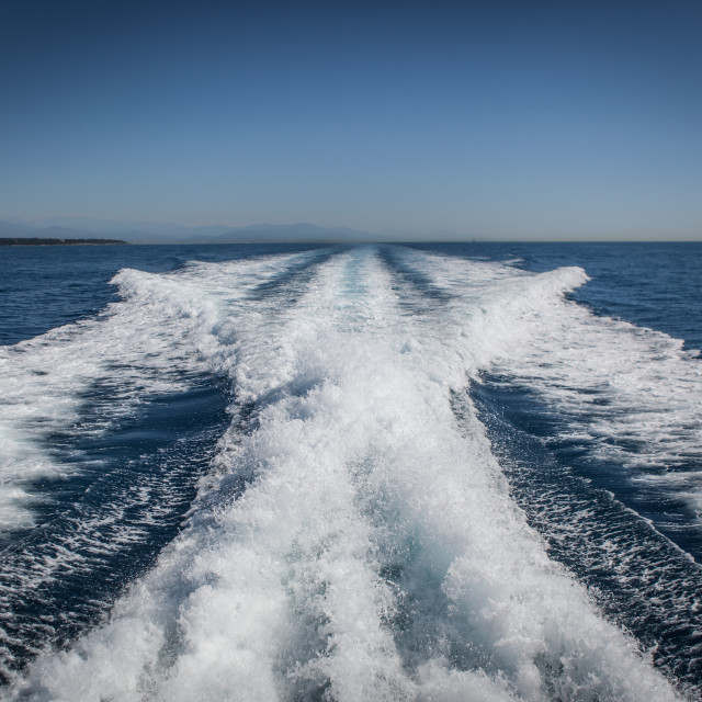 """Wake On The Côte d'Azur"" stock image"