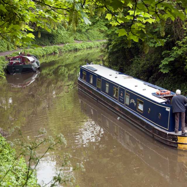 """On The Kennet & Avon Canal"" stock image"