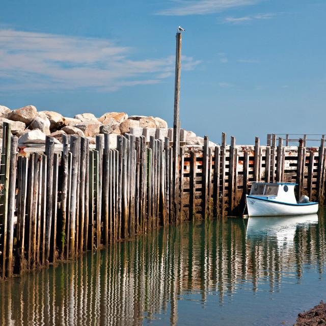 """""""Margaretsville Wharf"""" stock image"""
