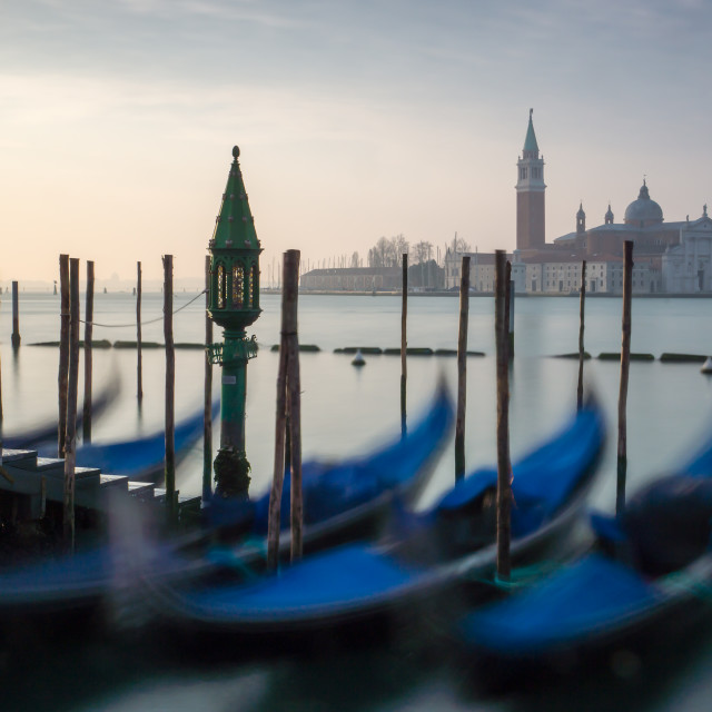 """Gondolas of Venice"" stock image"