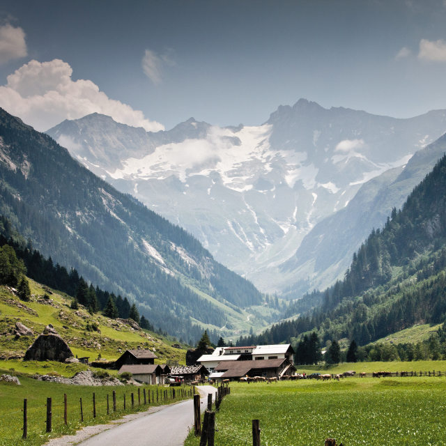 """alpine farm"" stock image"