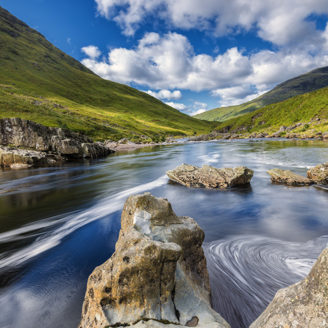 """River Etive"" stock image"