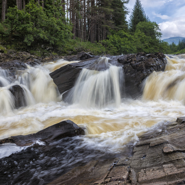 """River Orchy waterfall"" stock image"