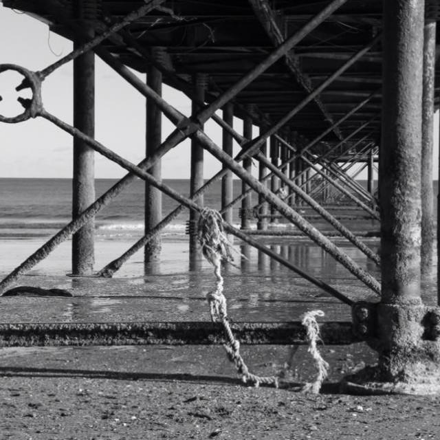 """""""Beneath the pier"""" stock image"""