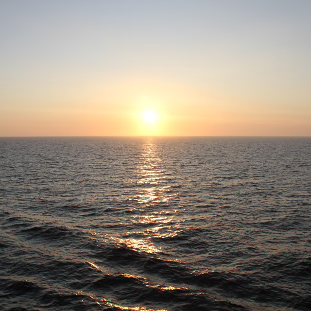 """Sunset at sea"" stock image"