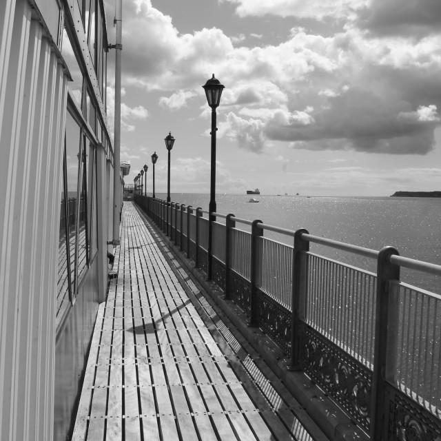 """Paignton. along the pier"" stock image"