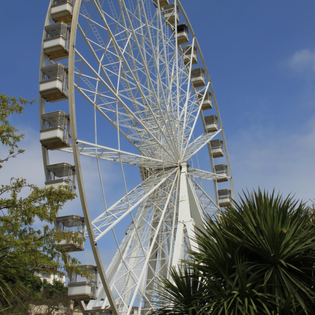 """Torquay. Big wheel turning"" stock image"