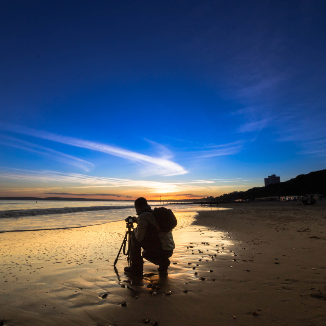 """sunset photographer"" stock image"