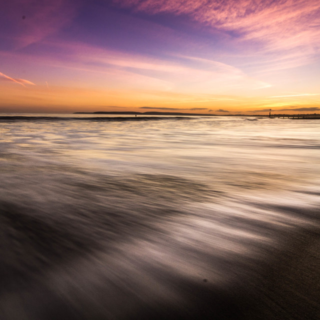 """long exposure sunset"" stock image"
