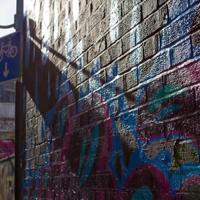 """""""Backstreet graffiti"""" stock image"""