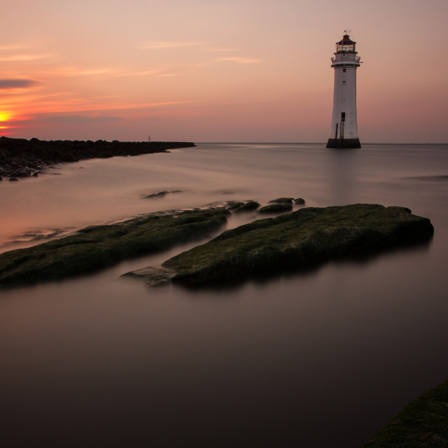 """Tranquility at Perch Rock"" stock image"