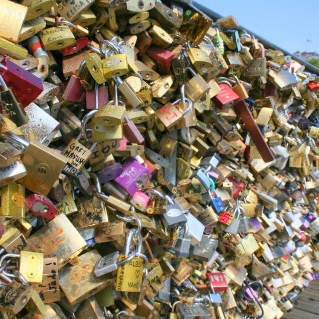 """Love Lock Bridge"" stock image"
