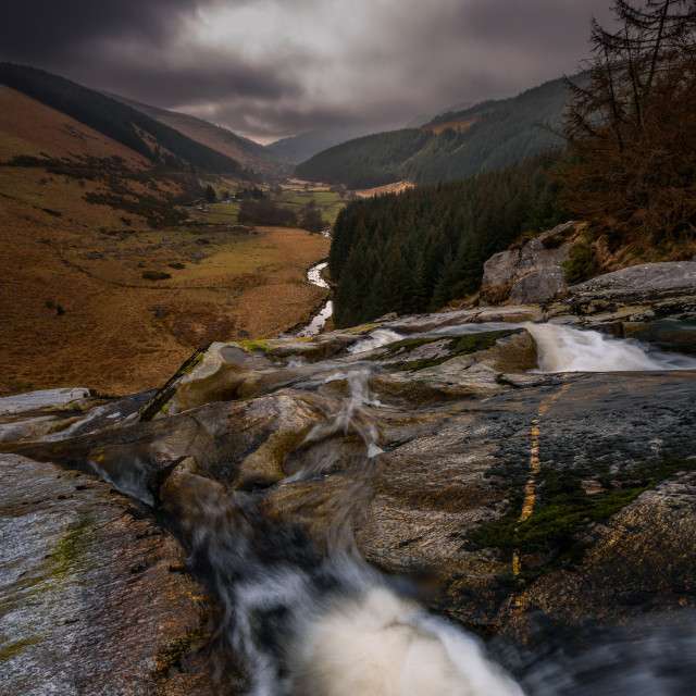 """Glen Macnass Waterfall"" stock image"