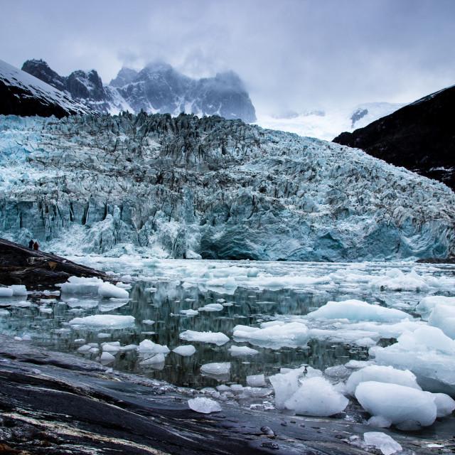 """""""Pia Glacier,Chile."""" stock image"""