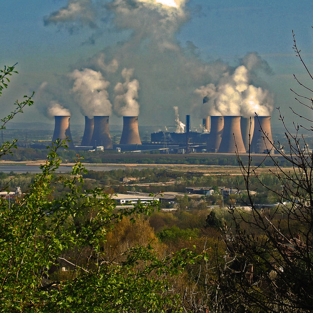 """""""Fiddlers Ferry Power Station"""" stock image"""