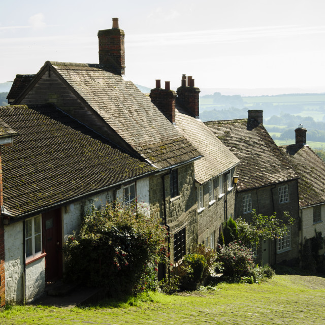 """Gold Hill, Shaftesbury, Dorset"" stock image"