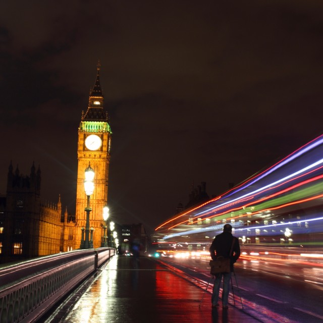 """London at Night 2"" stock image"