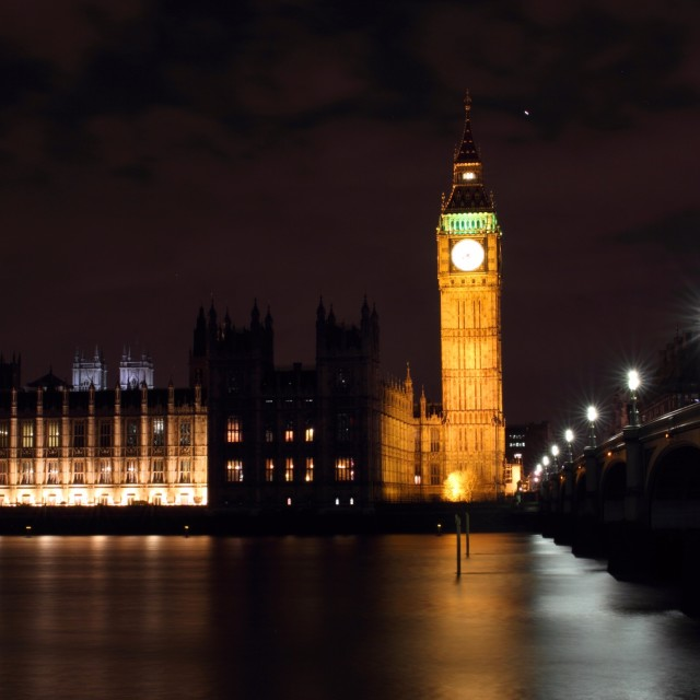 """London at Night 4"" stock image"