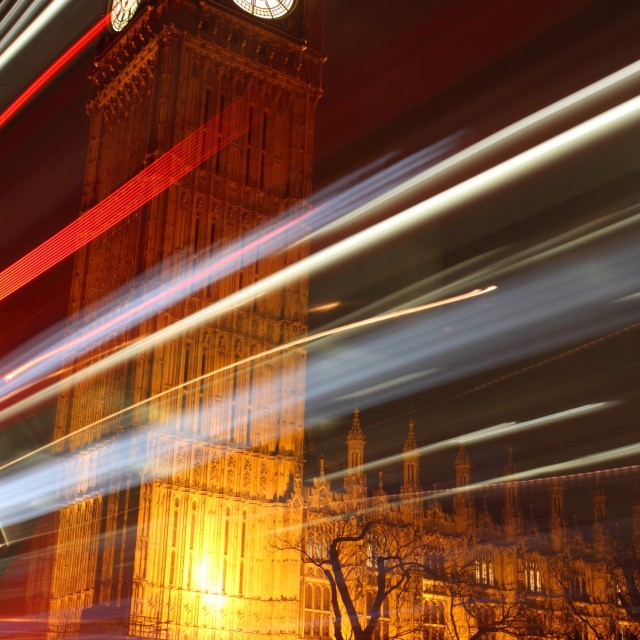 """London at Night 1"" stock image"