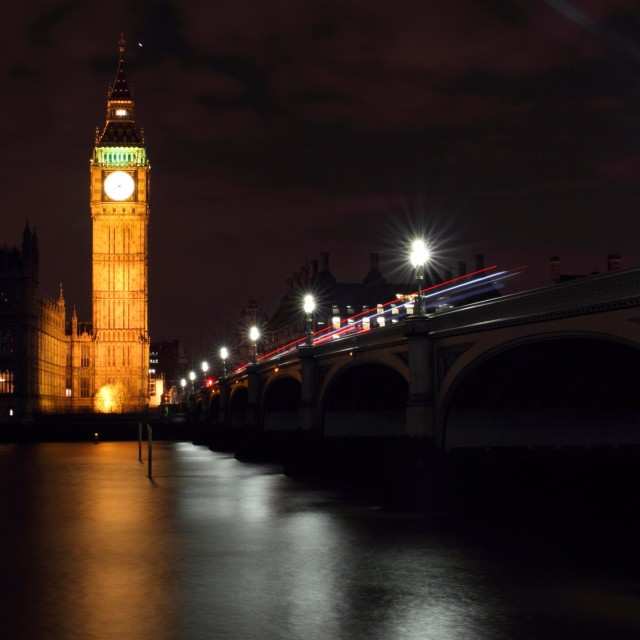 """London at Night 3"" stock image"