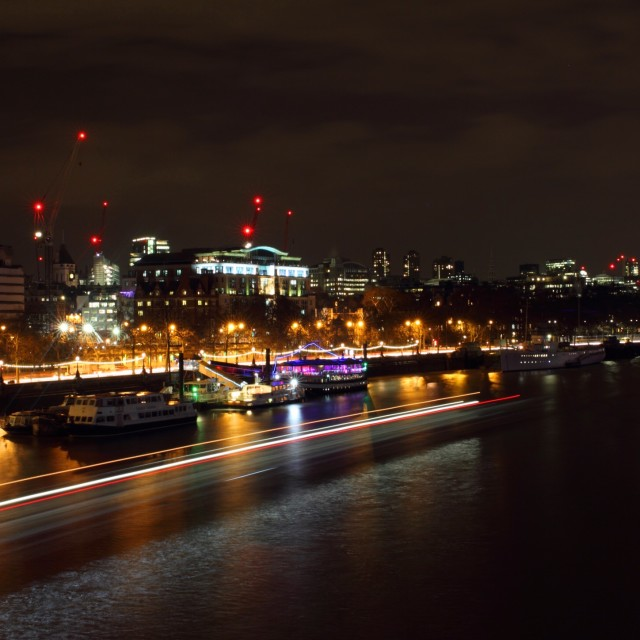 """London at Night 9"" stock image"