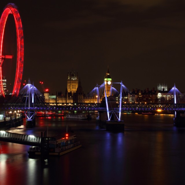 """London at Night 6"" stock image"