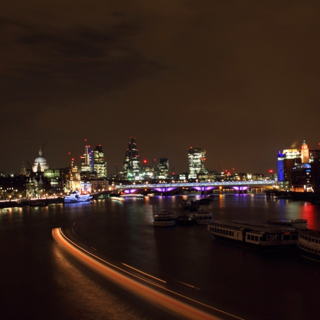 """London at Night 8"" stock image"