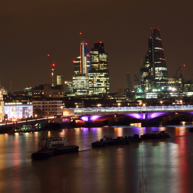 """London at Night 12"" stock image"