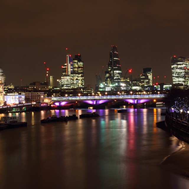 """London at Night 13"" stock image"