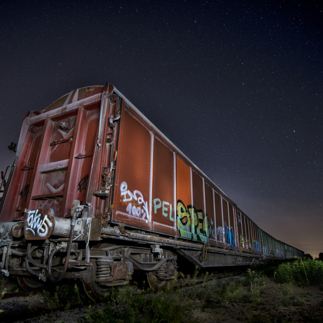 """Loneliness on rails"" stock image"