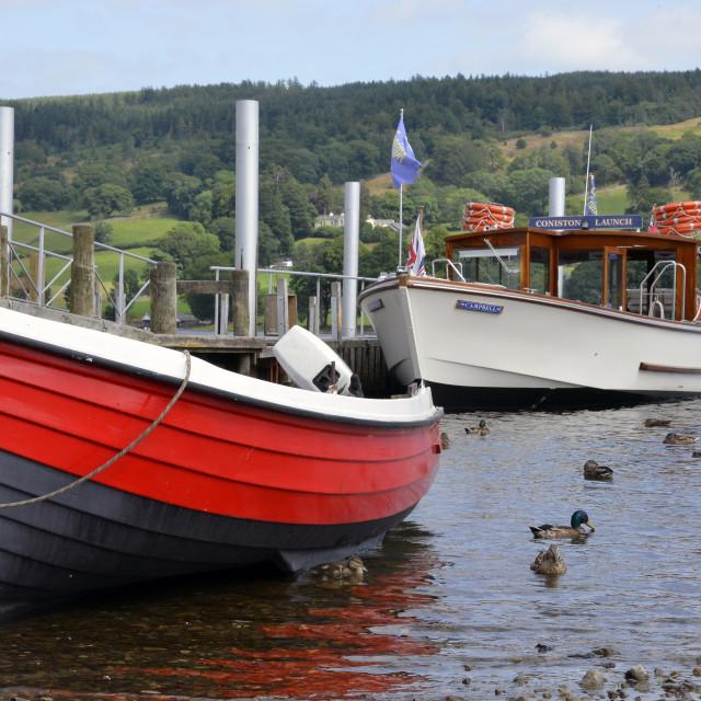 """""""Coniston Pier"""" stock image"""