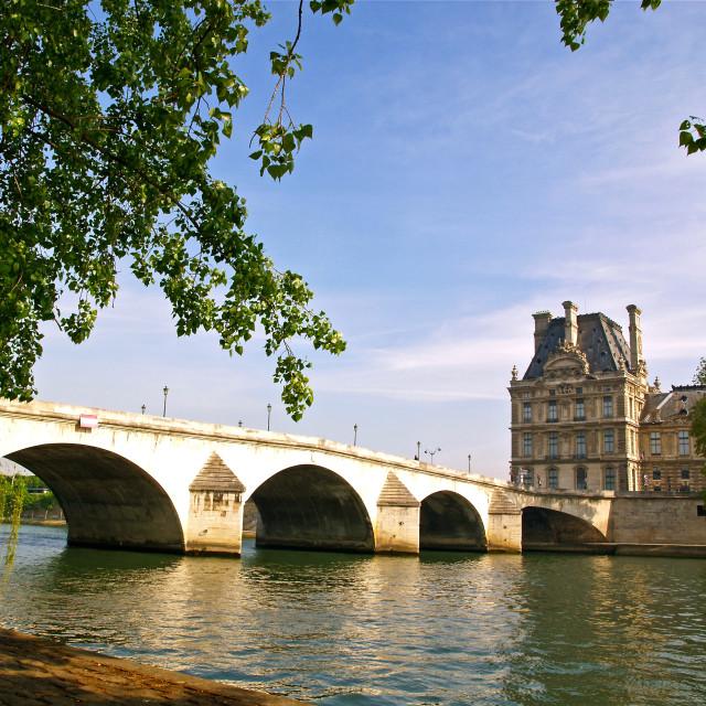 """""""Pont Royal"""" stock image"""