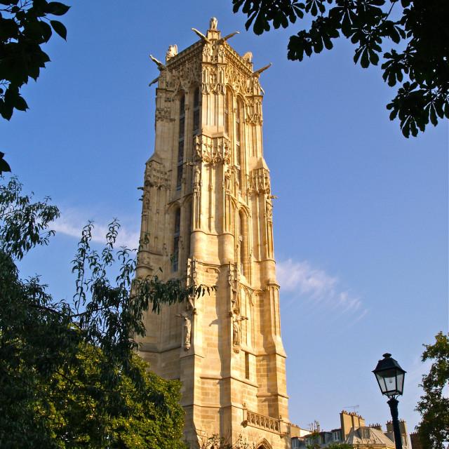 """""""La Tour Saint-Jacques"""" stock image"""