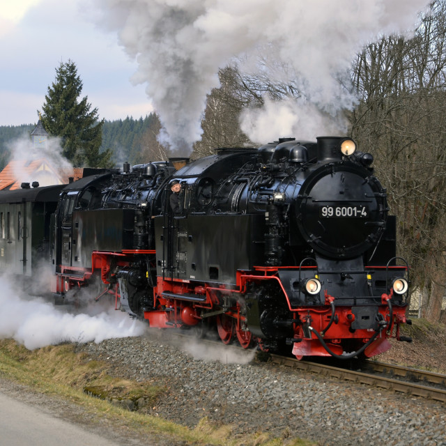 """Harz Steam - Sorge"" stock image"