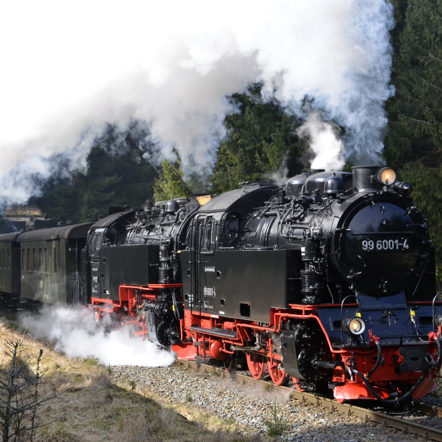 """Steam at Tiefenbachmuhle"" stock image"