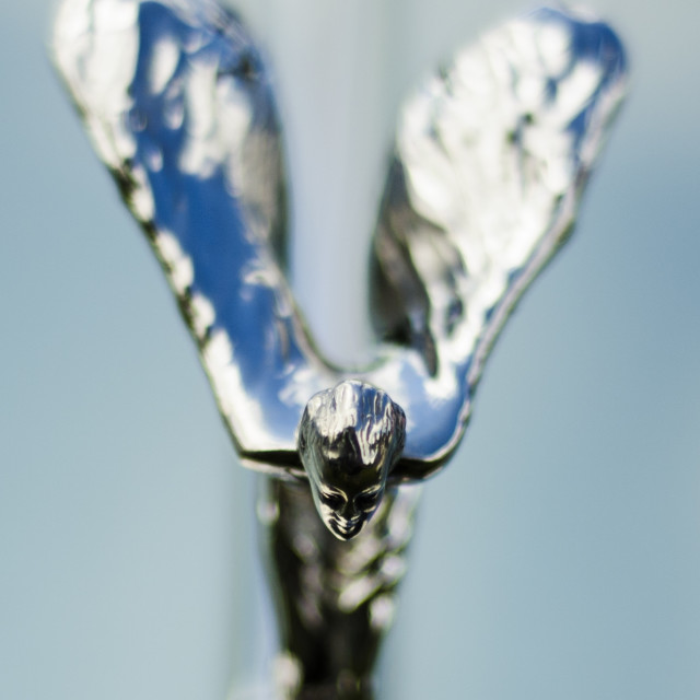 """Rolls Royce Symbol close up"" stock image"