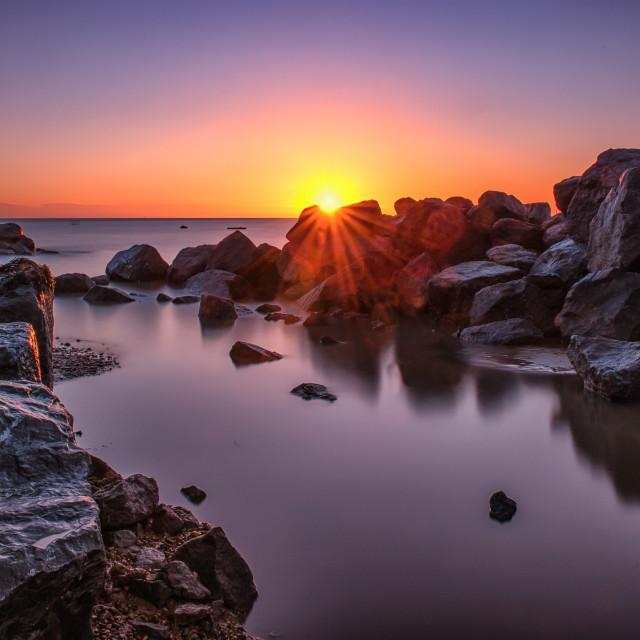 """""""Stunning January 2015 Sunrise"""" stock image"""