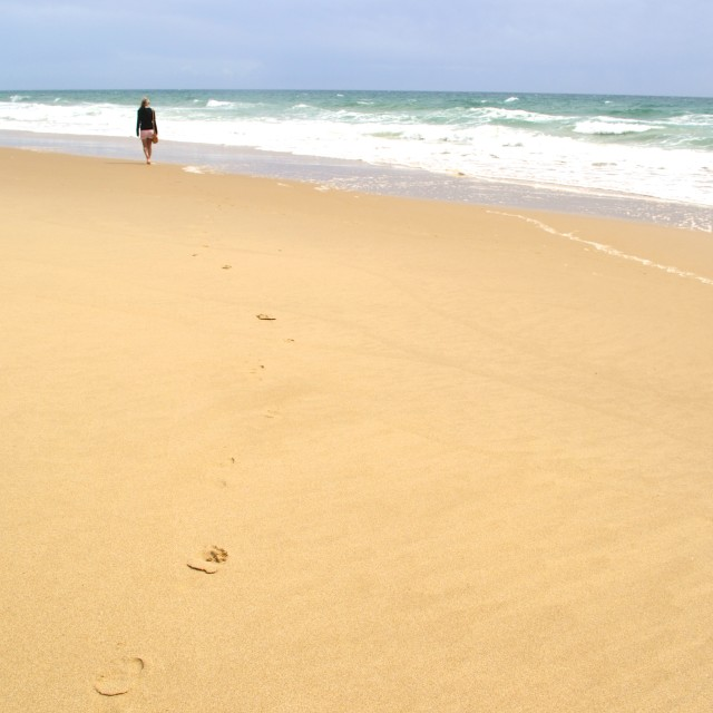 """Footprints"" stock image"