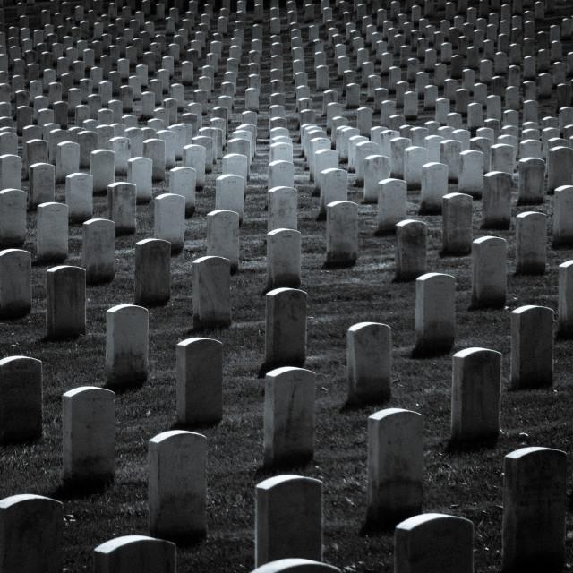 """""""Gravestones (monochrome)"""" stock image"""