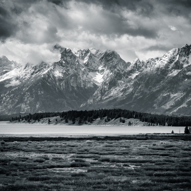 """Grand Tetons and Jenny Lake"" stock image"