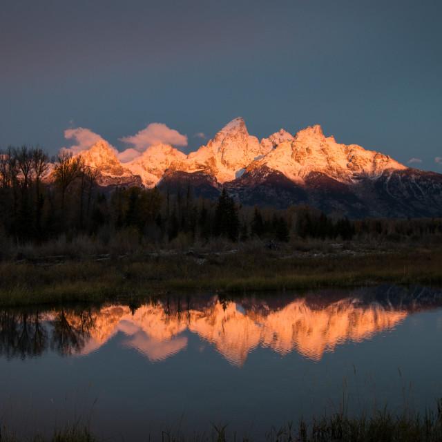 """Sunrise on the mountain"" stock image"