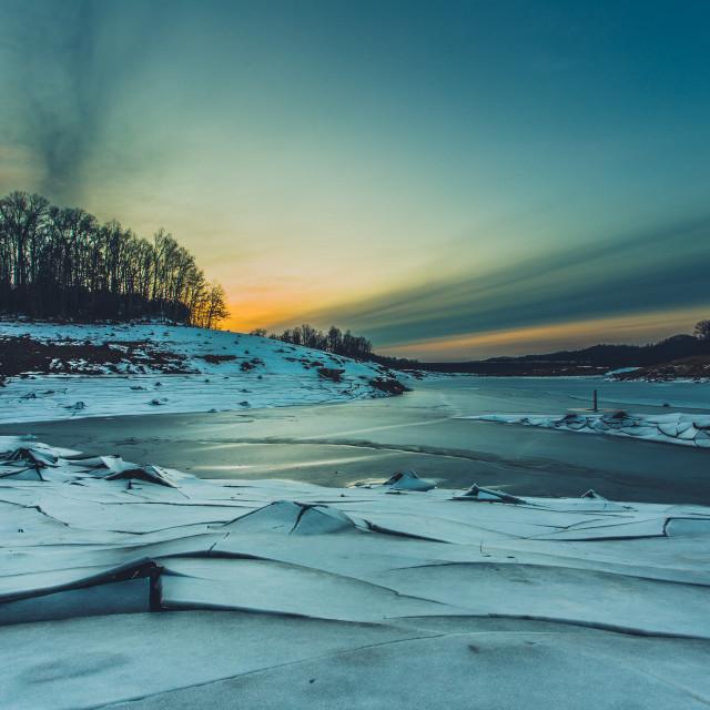 """""""Frozen Landscape"""" stock image"""
