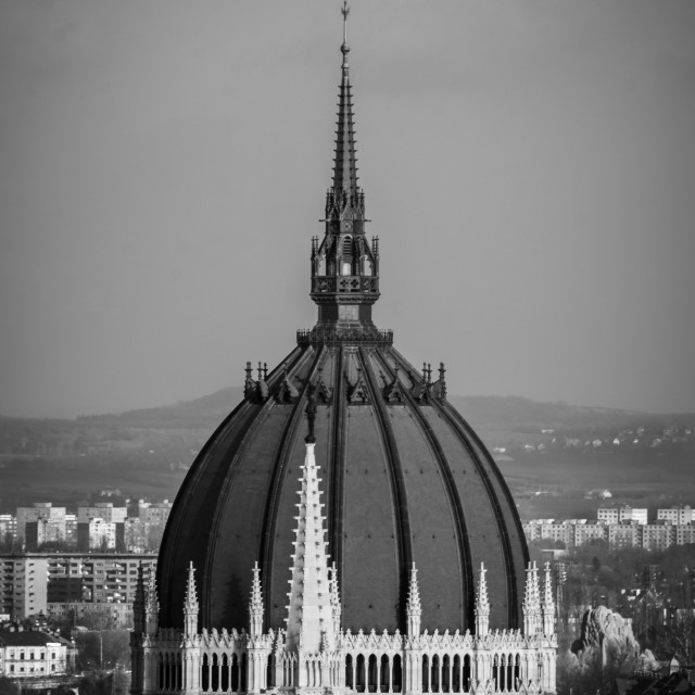 """""""Dome of Parliament in Budapest"""" stock image"""