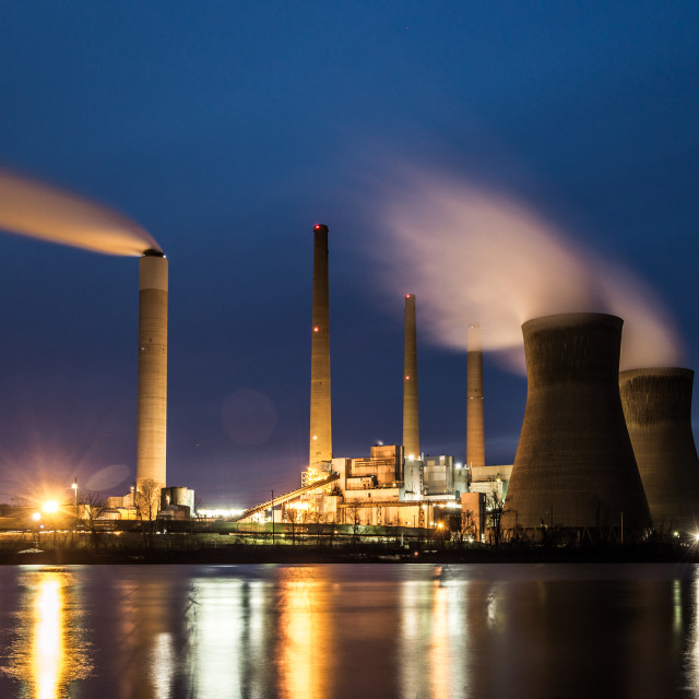 """Coal Fired Power Plant"" stock image"