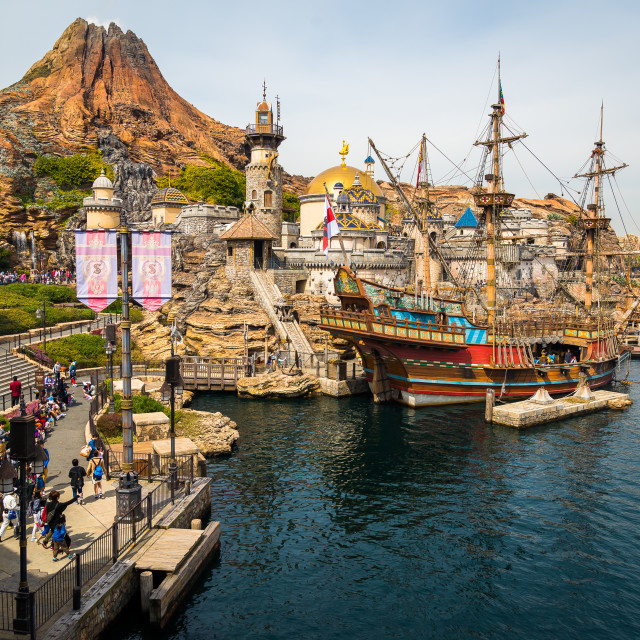 """""""Mysterious Island"""" stock image"""