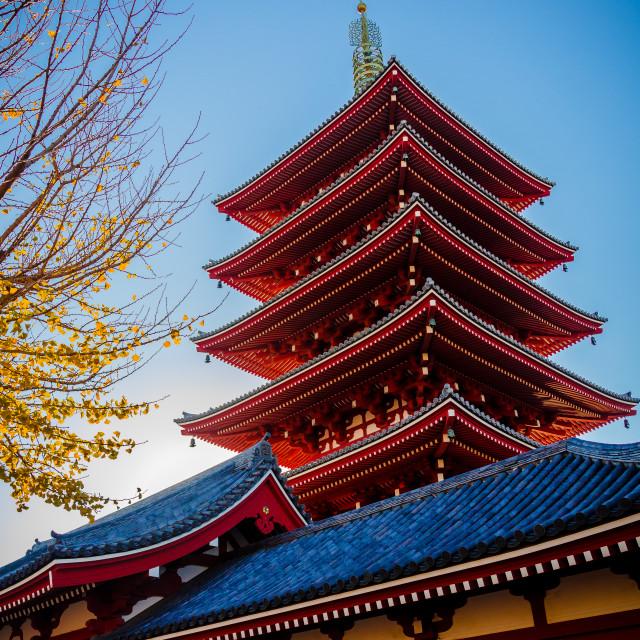 """Senso-ji Pagoda"" stock image"