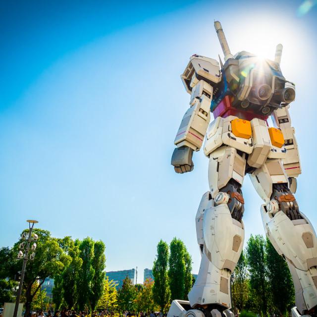 """Guardian of Odaiba"" stock image"