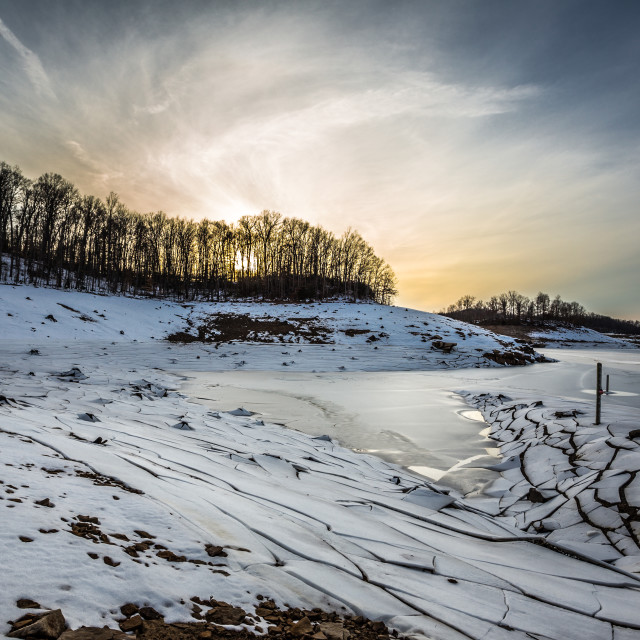 """Frozen Summersville Lake"" stock image"